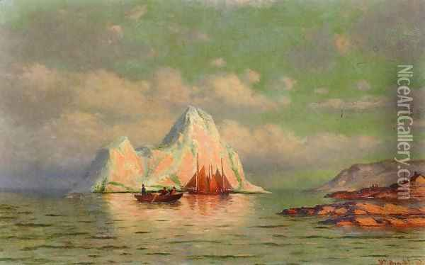 Fishing Boats on the Coast of Labrador Oil Painting - William Bradford