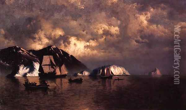 Seiners off the Coast of Labrador Oil Painting - William Bradford