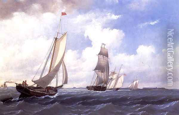 The ' Mary' of Boston Returning to Port Oil Painting - William Bradford