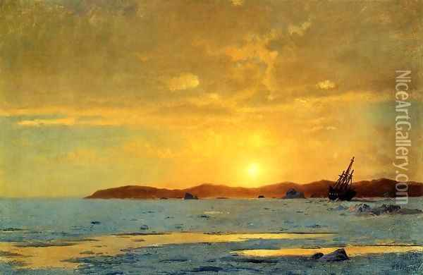 The Panther, Icebound Oil Painting - William Bradford