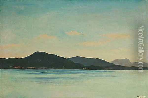 Lakeview Oil Painting - William Bradford