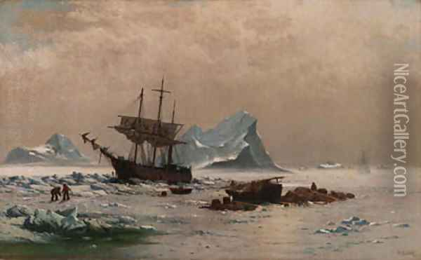 Among the Ice Floes Oil Painting - William Bradford