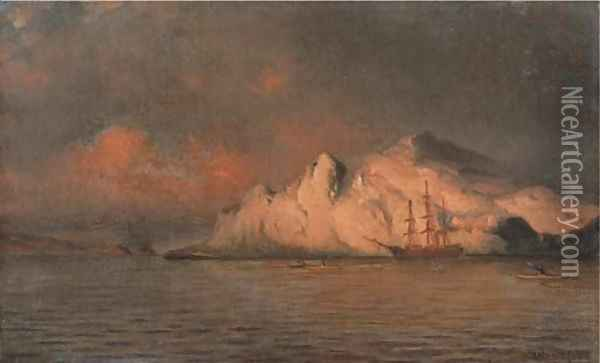 The Panther Among Icebergs Oil Painting - William Bradford