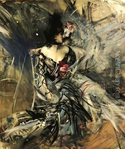 Spanish Dancer at the Moulin Rouge Oil Painting - Giovanni Boldini