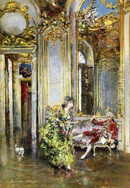 A Friend of the Marquis Oil Painting - Giovanni Boldini