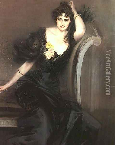 Lady Colin Campbell 1897 Oil Painting - Giovanni Boldini