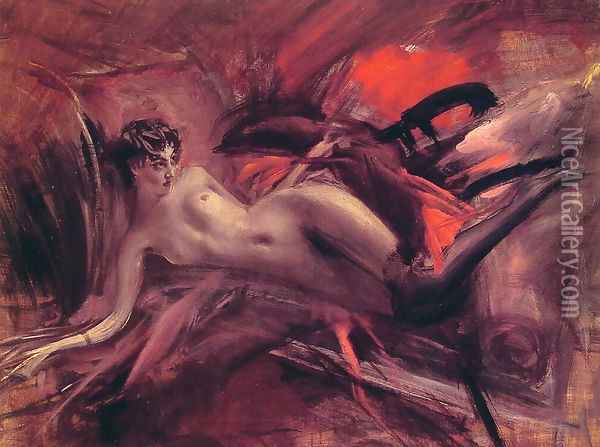 Reclining Nude2 Oil Painting - Giovanni Boldini