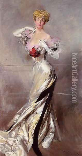 Portrait Of The Countess Zichy Oil Painting - Giovanni Boldini
