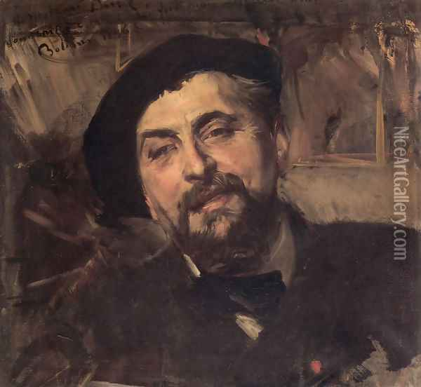 Portrait Of The Artist Ernest Ange Duez Oil Painting - Giovanni Boldini