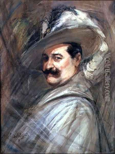 Costantino in the role of Ernani, c.1910 Oil Painting - Giovanni Boldini