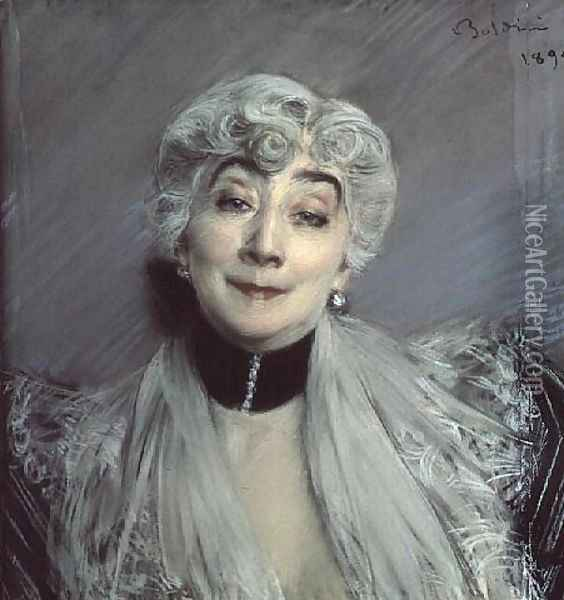 Portrait of the Countess de Martel de Janville, known as Gyp Oil Painting - Giovanni Boldini