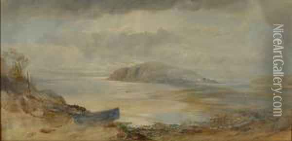 Burgh Island, South Devon Oil Painting - George Whitaker