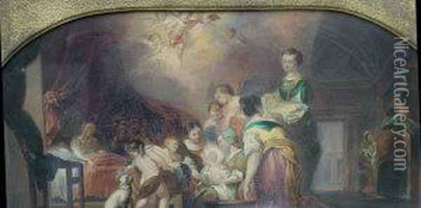 Allegory Of The Holy Family Oil Painting - Sir David Wilkie
