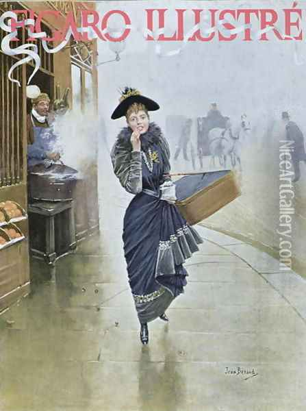 Young Parisian hatmaker, cover illustration of Figaro Illustre, February 1892 Oil Painting - Jean-Georges Beraud