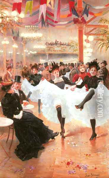 Le Cafe de Paris Oil Painting - Jean-Georges Beraud