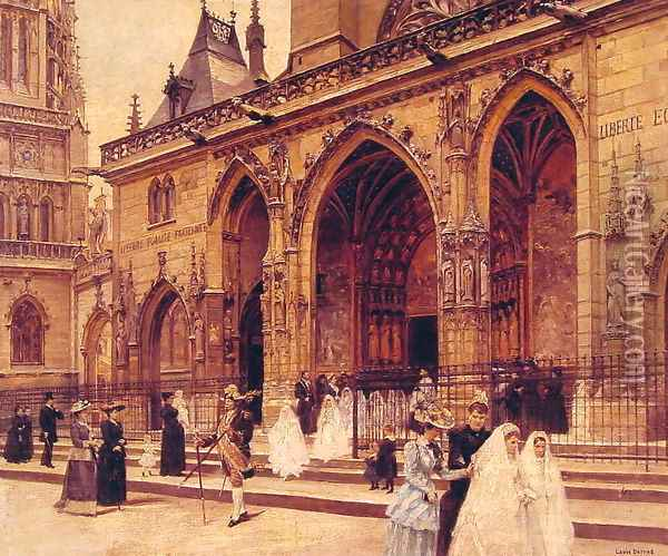 First Communion Oil Painting - Jean-Georges Beraud