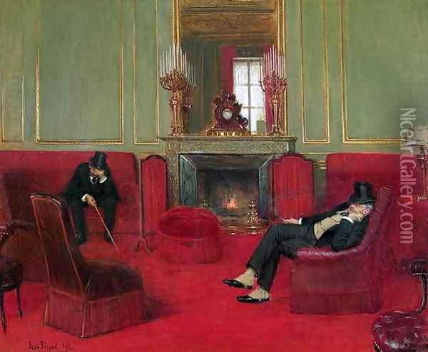 The Club, 1911 Oil Painting - Jean-Georges Beraud