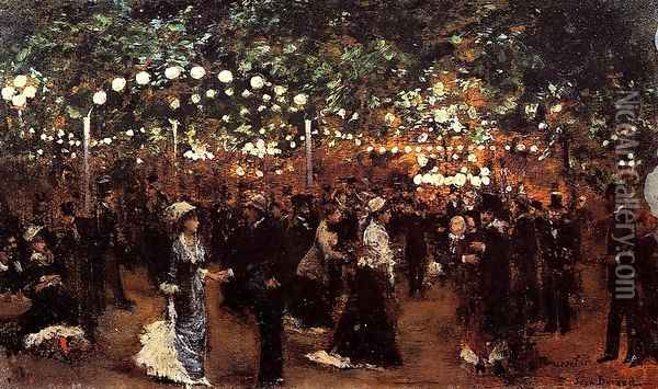 Le Bal Mabile Oil Painting - Jean-Georges Beraud