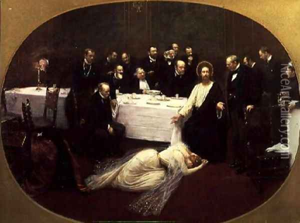 St. Mary Magdalene in the House of Simon the Pharisee 1891 Oil Painting - Jean-Georges Beraud