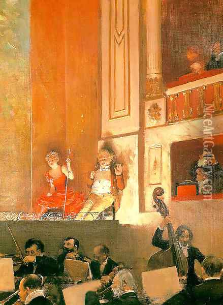 Representation at the Theatre des Varietes Oil Painting - Jean-Georges Beraud