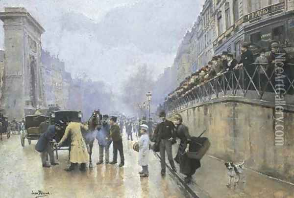 L'accident Port Saint-Denis Oil Painting - Jean-Georges Beraud