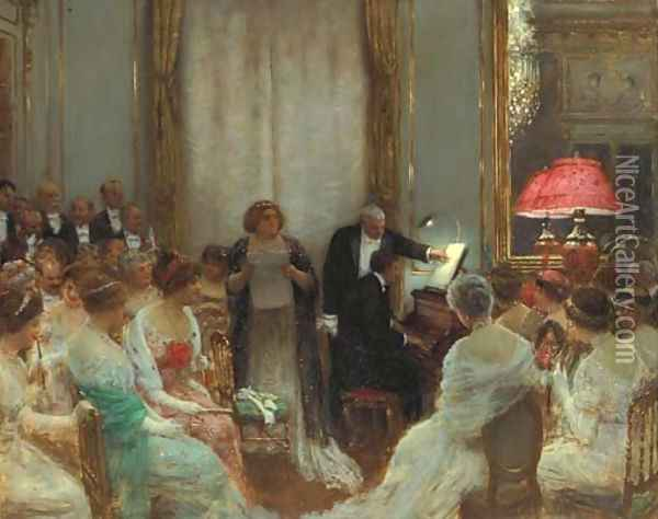 Le Concert prive Oil Painting - Jean-Georges Beraud