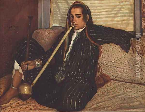 Smoking Haschich, 1900 Oil Painting - Emile Bernard