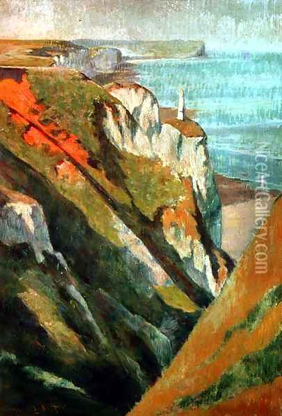 Cliffs and sea Oil Painting - Emile Bernard