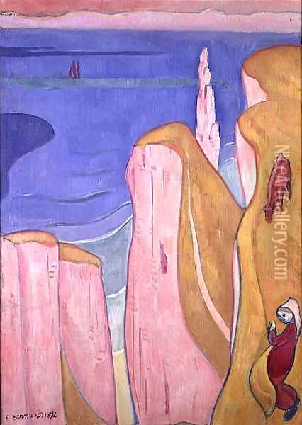 The Cliffs of Yport, 1892 Oil Painting - Emile Bernard