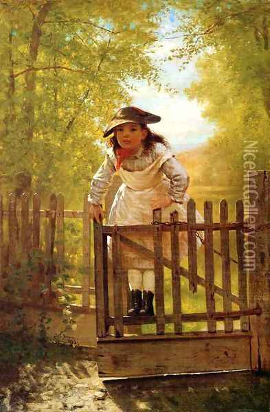 The Tomboy Oil Painting - John George Brown