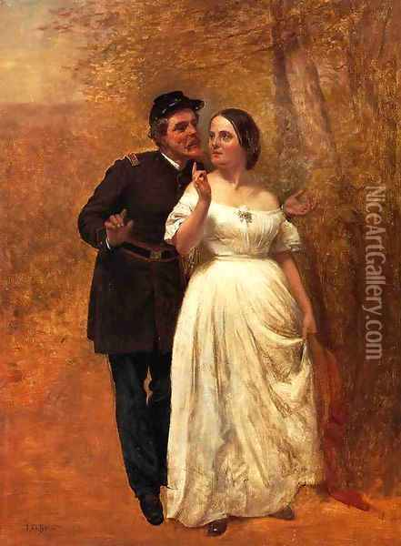 Courting Oil Painting - John George Brown