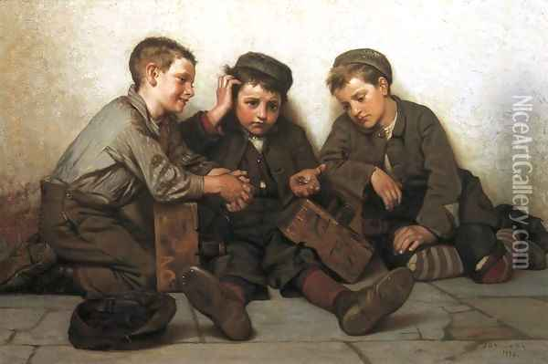 Coming up Short Oil Painting - John George Brown