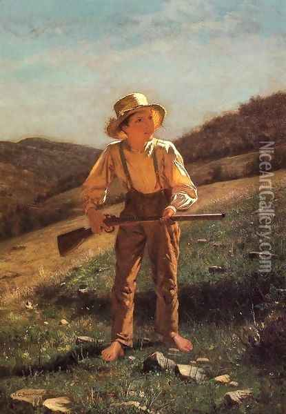 The Anxious Moment Oil Painting - John George Brown