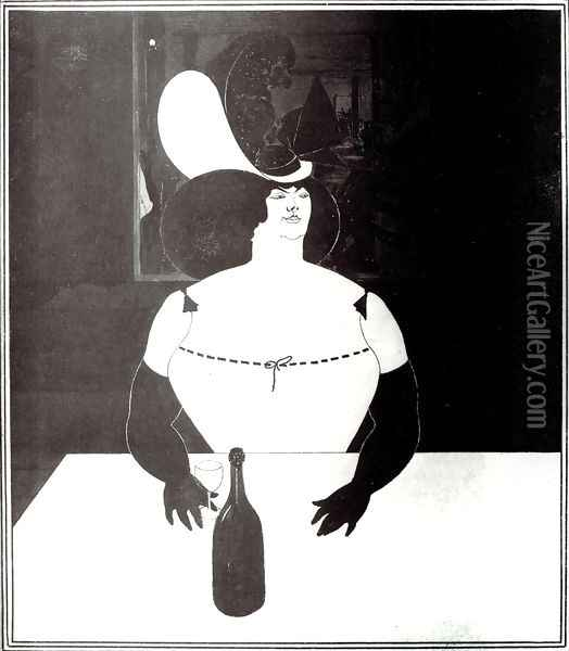 The Fat Woman Oil Painting - Aubrey Vincent Beardsley
