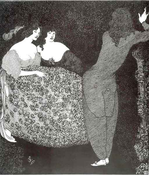 A Repetition of 'Tristan und Isolde' Oil Painting - Aubrey Vincent Beardsley