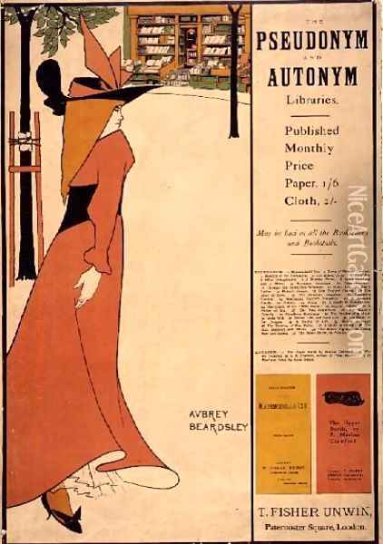 Publicity poster for 'The Yellow Book', 1894-97 Oil Painting - Aubrey Vincent Beardsley