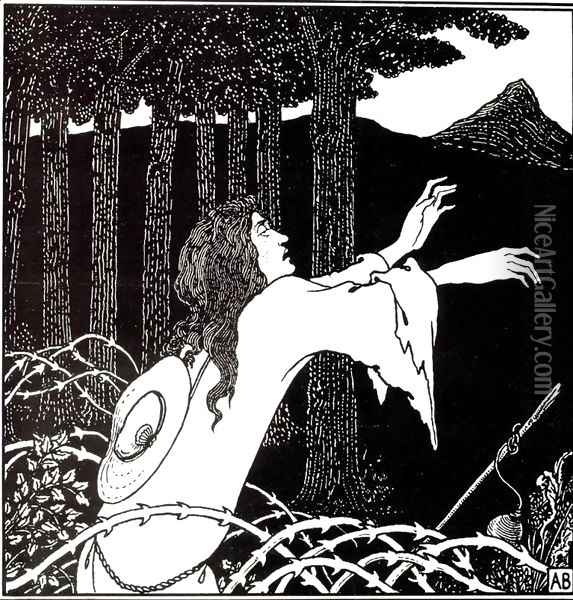 The Return of Tannhäuser to the Venusberg Oil Painting - Aubrey Vincent Beardsley