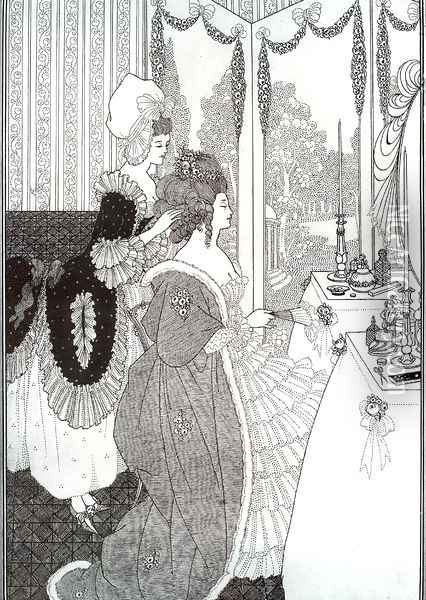 The Toilet Oil Painting - Aubrey Vincent Beardsley