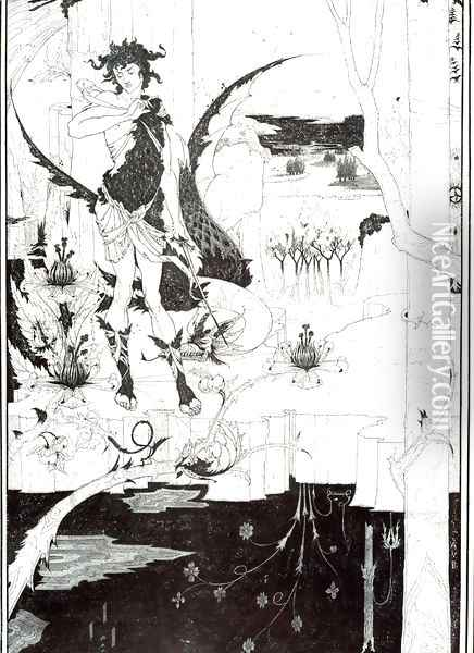 Illustration to 'Siegfried', Act II Oil Painting - Aubrey Vincent Beardsley