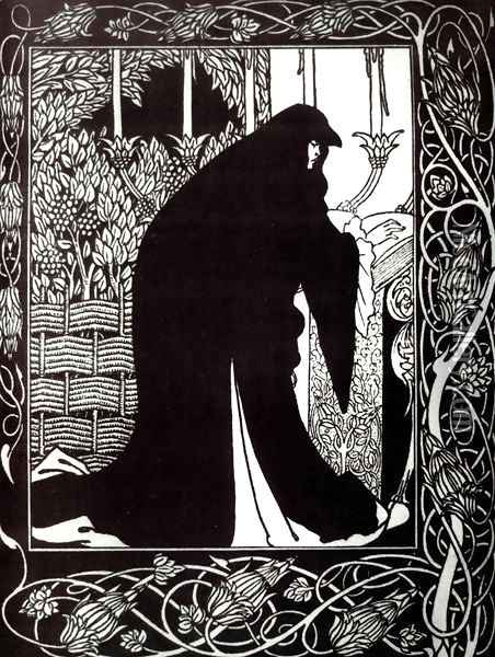 How Queen Guenever Made Her a Nun Oil Painting - Aubrey Vincent Beardsley