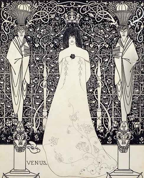 Frontispiece for 'Venus and Tannhauser', c.1895 Oil Painting - Aubrey Vincent Beardsley
