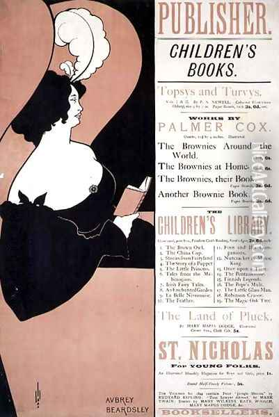 Advertisement for Children's Books, 1894 Oil Painting - Aubrey Vincent Beardsley
