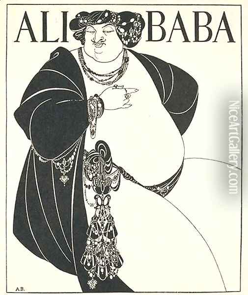 Ali Baba Oil Painting - Aubrey Vincent Beardsley