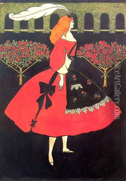 The Slippers of Cinderella, 1894 Oil Painting - Aubrey Vincent Beardsley