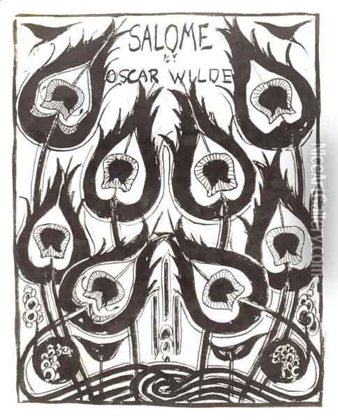 Original sketch for the cover of 'Salome' by Oscar Wilde (1854-1900) c.1894 Oil Painting - Aubrey Vincent Beardsley