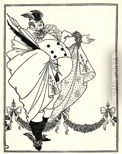 Design for the contents page of 'The Savoy', Volume I, 1896 Oil Painting - Aubrey Vincent Beardsley