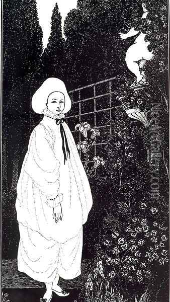 Frontispiece to 'The Pierrot of the Minute' Oil Painting - Aubrey Vincent Beardsley