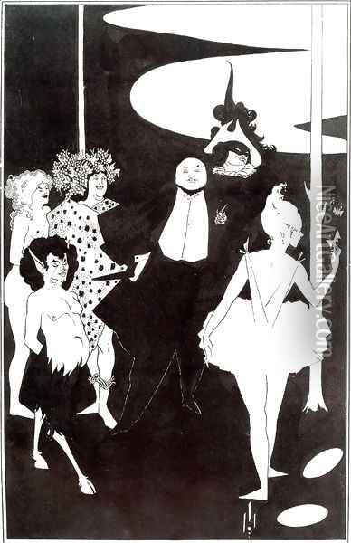 Design for the Frontispiece to 'Plays' by John Davidson Oil Painting - Aubrey Vincent Beardsley