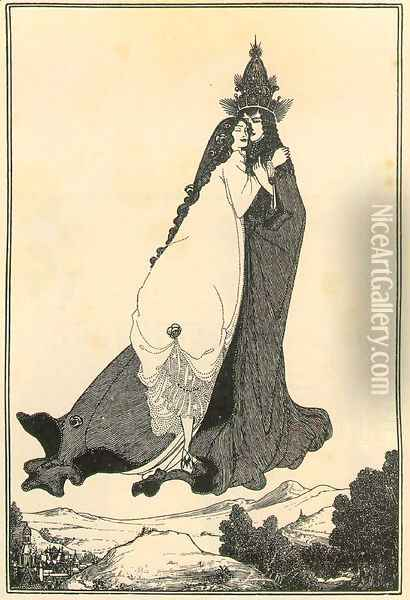 The Ascension of St. Rose of Lima Oil Painting - Aubrey Vincent Beardsley