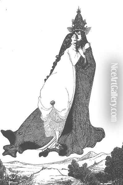 The Ascention of St Rose of Lima Oil Painting - Aubrey Vincent Beardsley